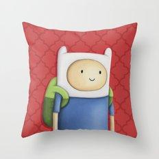 Finn Adventure Time Throw Pillow
