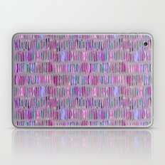 Messy Watercolor Stripes in Pink and Purple Laptop & iPad Skin