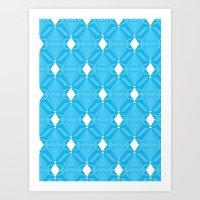 Abstract [BLUE] Emeralds Art Print