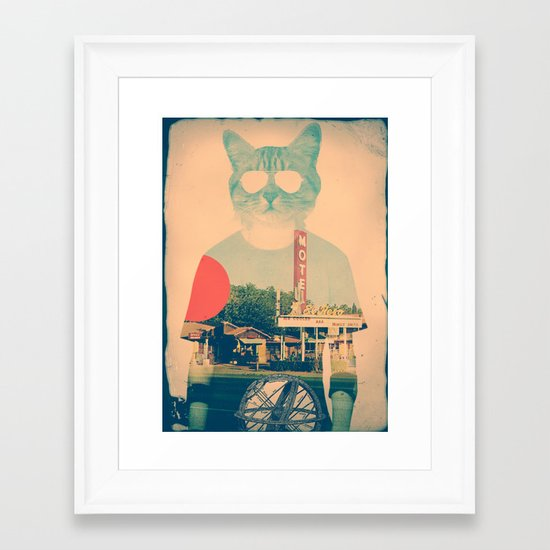 Cool Cat Framed Art Print