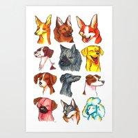 Brush Breeds Compilation… Art Print