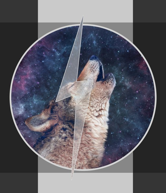 Lightning Wolf Art Print