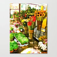 Canvas Print featuring Flower Stand by KeCuddihee
