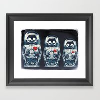 Nesting Doll X-Ray Framed Art Print
