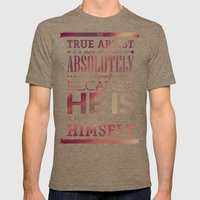 Be yourself Mens Fitted Tee Tri-Coffee SMALL