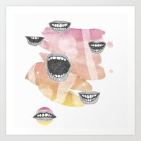 mouths Art Print