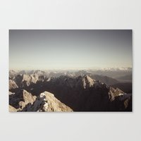 Zugspitze Mountain Germany Black and White Photography Canvas Print