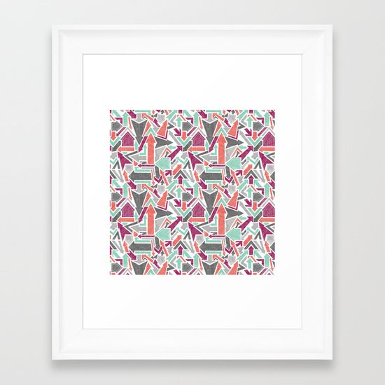 Patterned Arrows Framed Art Print