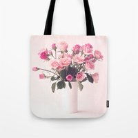 Pretty Peonies in a White Vase Tote Bag