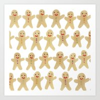 Gingerbread People Art Print