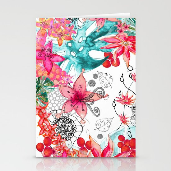 TROPICAL GARDEN Stationery Card