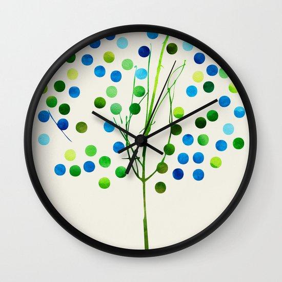 Tree of Life Aqua  by Jacqueline Maldonado & Garima Dhawan Wall Clock