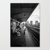 Waiting for Train Canvas Print