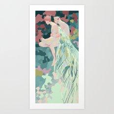 Sinking Man Art Print