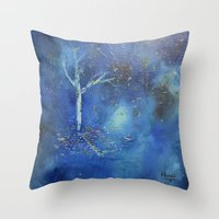 Winter Winds Throw Pillow