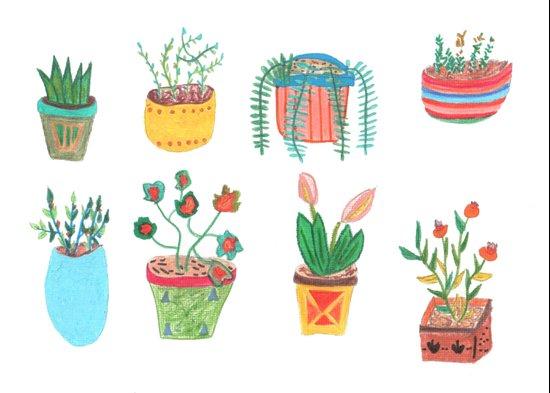 Plants. Art Print