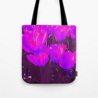 Pop Tulip Tote Bag