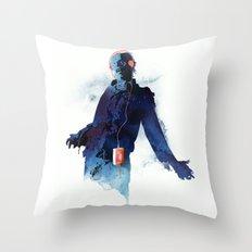 The Walkman Dead Throw Pillow