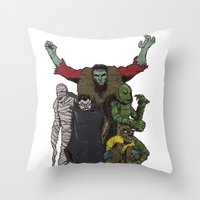 The Demonsterables (no T… Throw Pillow