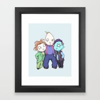 Fred, Sloth, Maurice  Framed Art Print