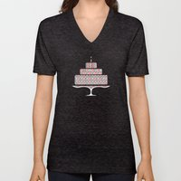 Patterned Cake Unisex V-Neck