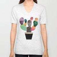 Pretty Cactus Unisex V-Neck