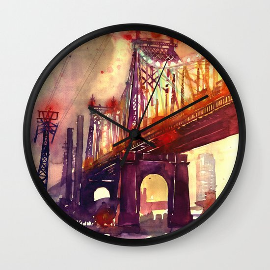 Queensboro Bridge Wall Clock