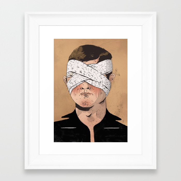 X Ray Eyes Framed Art Print By Matthew Goik Society6