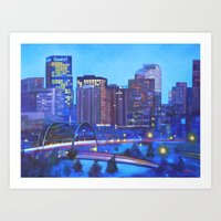 Denver Skyline Art Print