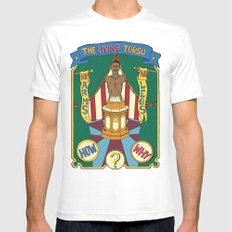 The Living Torso SMALL White Mens Fitted Tee