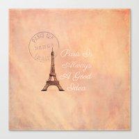 Vintage Paris Is Always … Canvas Print