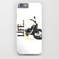 iPhone & iPod Case featuring Motorcycle lifestyle  by Ezgi Kaya