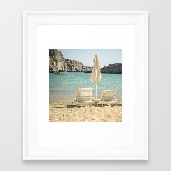 Seating under the Sun Framed Art Print