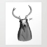 Boo Bear Art Print