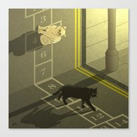 Cat Hopscotch  Canvas Print