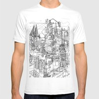 San Francisco! (B&W) Mens Fitted Tee White SMALL