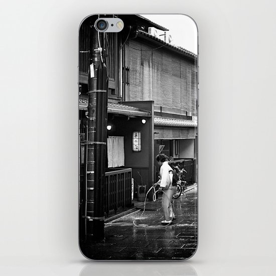 Watering the Streets of Gion, Kyoto iPhone & iPod Skin