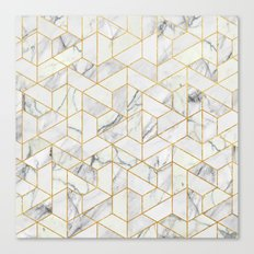 Marble hexagonal pattern Canvas Print