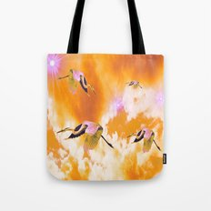 Dance of the Heron and Nebulae. Tote Bag