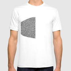 Mice White Mens Fitted Tee SMALL