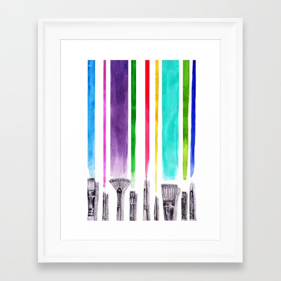 Paint brushes Framed Art Print