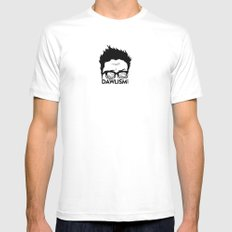 Dawlism logo SMALL Mens Fitted Tee White