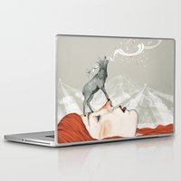 deer Laptop & iPad Skins featuring Deer Lady! by Sandra Dieckmann