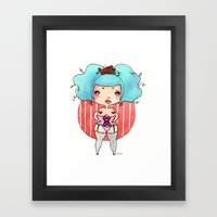 Chubby Heart Framed Art Print
