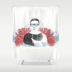 The depth of him Shower Curtain