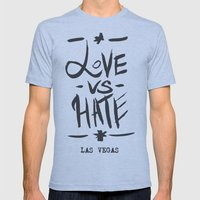 Love VS Hate - Las Vegas - Mens Fitted Tee Athletic Blue SMALL