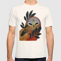 Visitor Mens Fitted Tee Natural SMALL