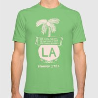 LA Mens Fitted Tee Grass SMALL
