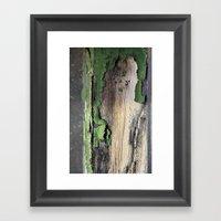 Green Peel Framed Art Print