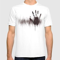 White Noise Mens Fitted Tee White SMALL